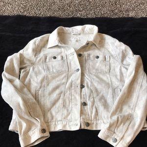 Cream and grey jean jacket!